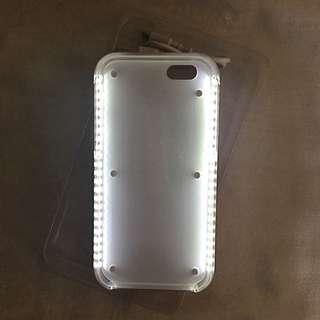 iPhone 6/6s case with built in selfie light