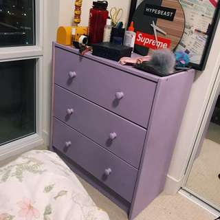 🔮PURPLE WOOD DRAWERS🎀