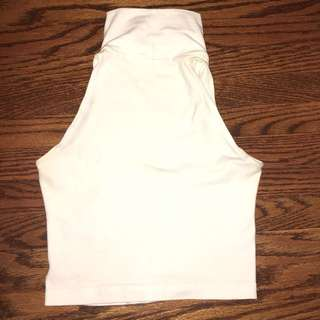 American Apparel white cropped