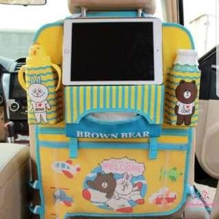 *SALE @ $19.90!*Baby Car Seat Organizer Storage Brown Bear