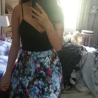 Floral Blue Skirt