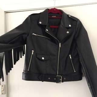 Leather Fringed Jacket