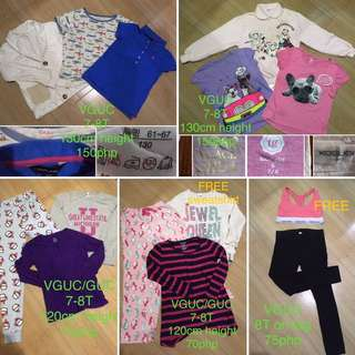 Size 7-8 years old girl for take all