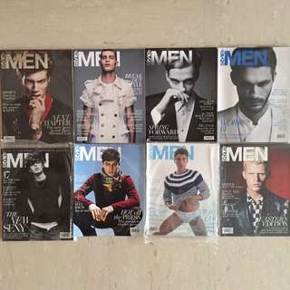 Early Prints of Style: Men Magazines (8 Issues)