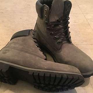 Grey/Black Suede Premium Timberland Boots