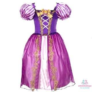 *SALE @ $21.90!*Princess Dresses Costume Role Play Pretend Play Party Dress Fairy Tale Rapunzel Dress Kids Children Girls