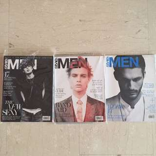 Early Prints of Style: Men Magazines (3 Issues)