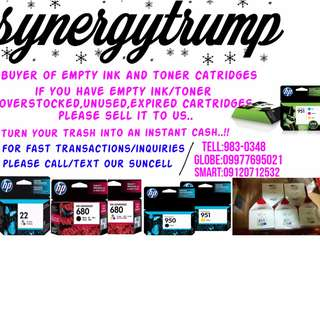 buyer of empty ink toner brand new expred cartridges