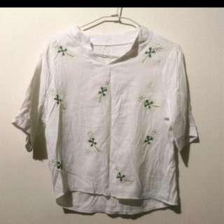 雛菊五分袖襯衫