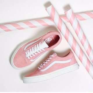 Vans 復古款粉紅色低筒鞋 全新 23cm