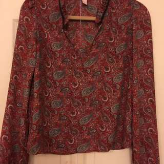 Small/medium red blouse