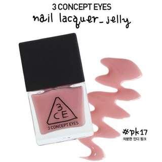 🚚 3CE 粉色指甲油 PK17 #一百元美妝