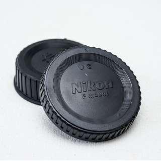 Nikon SLR body cap and rear lens cap