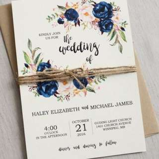 Budget cheapest Wedding / birthday / 21st / baby shower / chic card