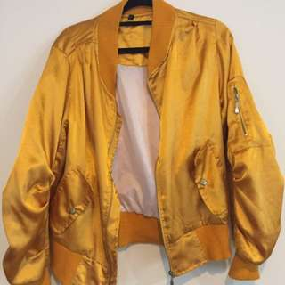 Boohoo Gold Jacket