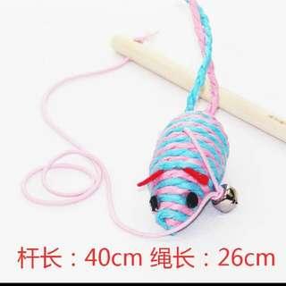 超彈性繩造型逗貓棒