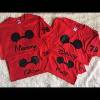 Custom made mickey mouse family shirt- 250 each