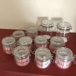 Set of jars. 9 x 500ml 2 x 750ml