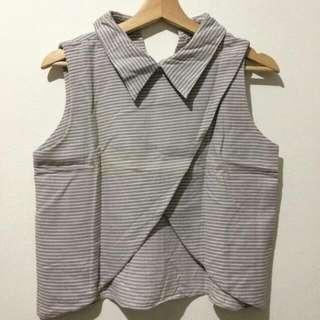 ❎PRELOVED❎ Collar Shirt / Baju Kerah stripes