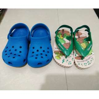 Ipanema Toddler Slippers and Crocs Classic Clog