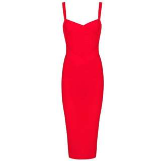 Ladies women Herve ledger midi Bodycon Loretta inspired formal dress size xxs Xs s m l