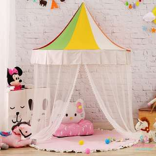 *1 LEFT! $15 OFF!*Ultimate Kids Children's Boys Girls Large Big Rainbow Canopy Tent With Curtain Netting Play Area Room Decor Photography Props Preorder 1.2M 1.5M