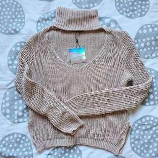 Nude Turtleneck Sweater