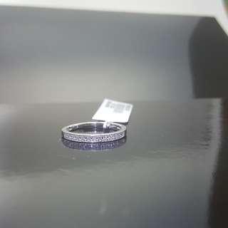 14K White Gold W/ Diamond D0.10CT GH I1- Band Ring