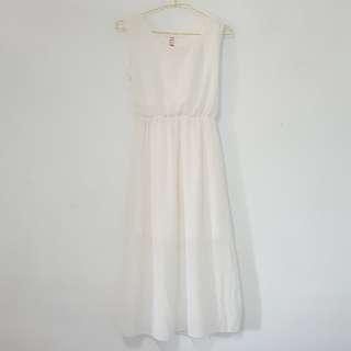 L 白色雪紡長洋裝 #舊愛換新歡