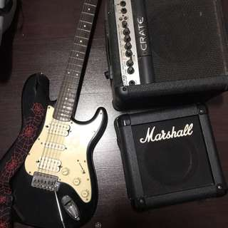 Johnson Guitar & Marshall Crate Amp (NEGO)