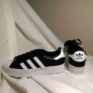 adidas 黑色厚底 保證正品 全新