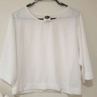 White All About Eve Top