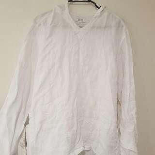 Zara Man White Long Sleeve