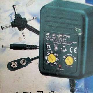 萬能火牛 DC adaptor transformer (1.5V 3V 4.5V 6V 7.5V 9V 12V)