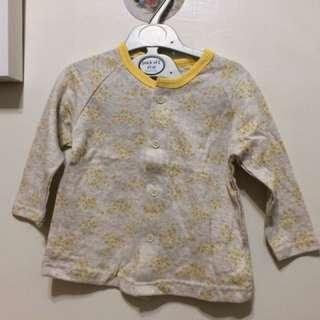 小花睡衣(黃)全套上衣+褲 80cm