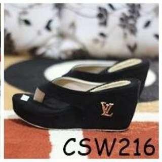 Sandal Wedges Wanita LV CSW216