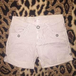 Hotpants strip stipe white black