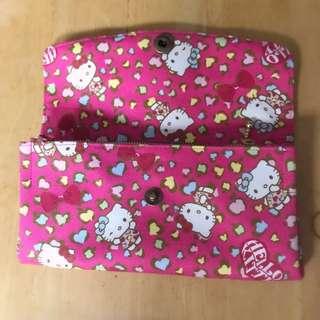 🚚 🔴松菸誠品🔴原價1480 創意市集購入hello kitty日本棉布立體手作手拿包 森林zakka♥WOw