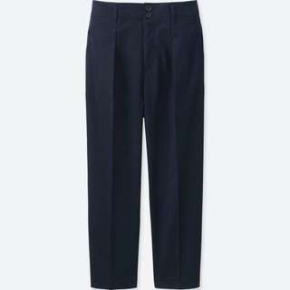 UNIQLO WOMEN Cotton Wide Leg Tapered Ankle Length PantS