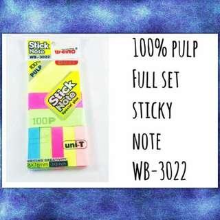Pulp Fullset Sticky Notes