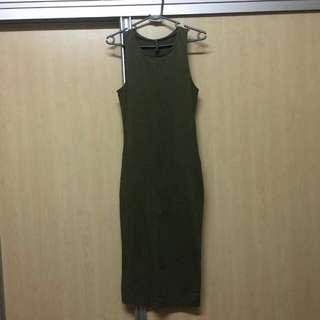 Cotton On Sleeveless Army Green Dress