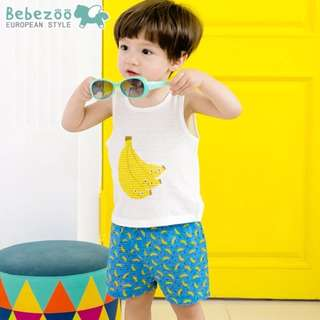 ☑️ INSTOCKS 1-4Y Bebezoo Kid Clothes Boy 2pcs Set K1012G