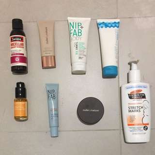 Skincare And Makeup Products