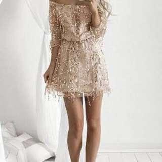 Sequin Off Shoulder Dress