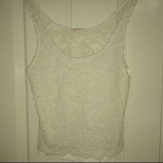 Jay Jays Lace Top Size Small (Would Fit Medium/ Large Easily)