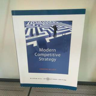 Modern Competitive Strategy 現代競爭策略