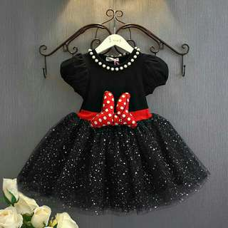*FREE DELIVERY to WM only / Pre order 15 days* Kids cartoon minnie mouse tutu ball gown dress each as shown design/color. Free delivery is applied for this item except for certain furniture type.