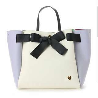 COLORS BY JENNIFER SKY,  Alice in wonderland Bowknot Large Tote Bag.  Disney Limited Edition.