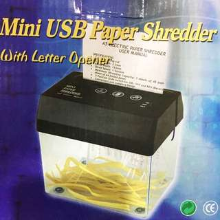 全新免運✨USB / 電池 桌上型電動碎紙機