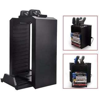 DOBE PS4/PS4 Slim/Pro Multifunctional Detachable Holder Game Disk Storage Tower